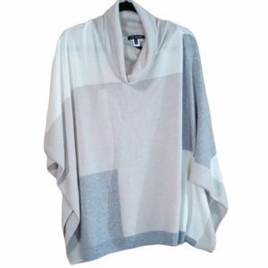 St John Cashmere blend patched poncho sweater